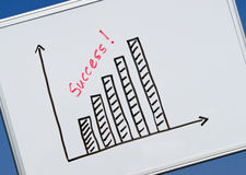 Bar Chart to Success Stock Photo