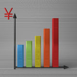 Bar chart with yuan Royalty Free Stock Photo
