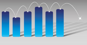 Bar charts. And abstract business graph Royalty Free Stock Images