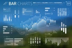 Bar Charts, Column Charts And Histograms Infographic Elements. Corporate Infographic Elements is an excellent collection of vector graphs, charts and diagrams stock illustration