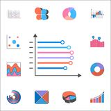 Bar charts icon. Detailed set of Charts & Diagramms icons. Premium quality graphic design sign. One of the collection icons for we. Bar charts icon. Detailed set Stock Photography