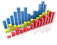 Bar charts Stock Photography