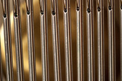 Bar chimes with steel tubes for relaxation and meditation Stock Image