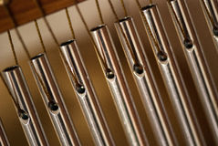 Bar chimes with steel tubes for relaxation and meditation.  Royalty Free Stock Photos
