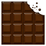 Bar of Chocolate Stock Photo