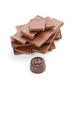 A bar of chocolate Stock Photography