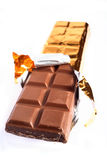 Bar of chocolate Stock Images
