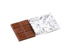 Bar of chocolate in foil. Stock Image
