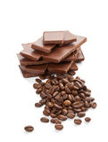 A bar of chocolate isolated on white Stock Photography