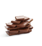 A bar of chocolate on white Stock Photos