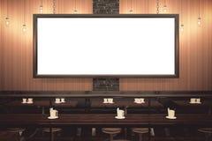Bar classique avec l'avant vide de panneau d'affichage Photos libres de droits