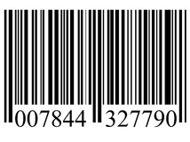 Bar code. Closeup of a bar code isolated on white background Stock Photos
