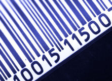 Bar Code. Blue and Black Bar Code Stock Image