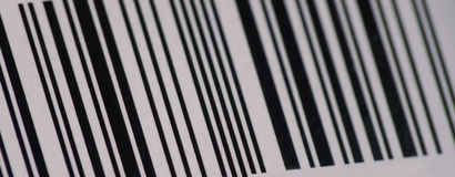 Bar code. Close up of a bar code Stock Photos