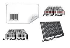 Bar code. Vector bar code set isolated Stock Photos