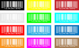 Bar-code. Multi-coloured a bar-code on a white background Royalty Free Stock Images