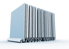 Bar code. This is a 3d render illustration Stock Photo
