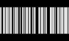 Bar code. Vector bar- code in black Royalty Free Stock Images