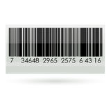 Bar code. Illustration of bar code on white background Stock Photo