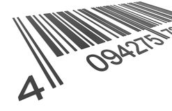 Bar Code. Closeup of a Bar Code Stock Image