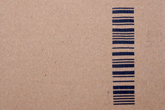 Bar Code. On the carton Royalty Free Stock Photography