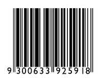 Bar Code. On a white background stock photo
