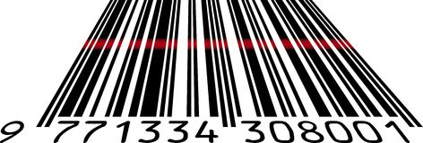 Bar code. Scanning price on bar code with laser Stock Photography