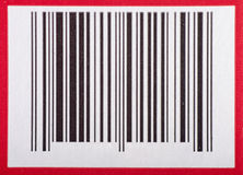 Bar code. With red border Royalty Free Stock Photo
