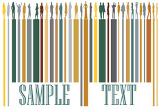 Bar code. Illustration of bar code and people Stock Image