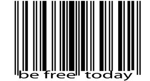 Bar code. Bar-code abstract Royalty Free Stock Photography