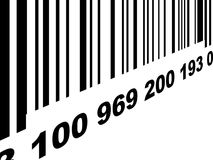 Bar code. A black and white barcode background Royalty Free Stock Image