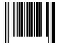 Bar code. The black bar code over white Stock Photography