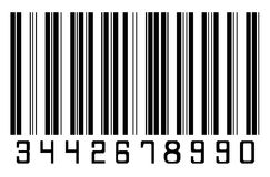 Bar code. Black bar code on a white background Stock Photography
