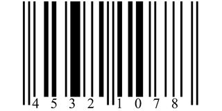 Bar code. Big sample for web or print Royalty Free Stock Photos