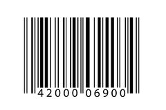Bar code. A closeup illustration of a modern bar code on a white background Stock Photo