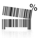 Bar code as an open mouth with teeth Stock Photo