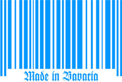 Bar Code of Bavaria. Bar code with Made in Bavaria Stock Image