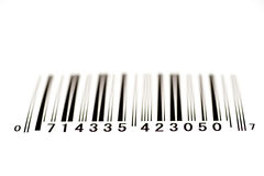Bar Code From Below With Shallow Depth of Field Royalty Free Stock Photos