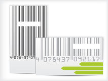 Bar code business card design Royalty Free Stock Photography