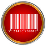 Bar code button Royalty Free Stock Photography