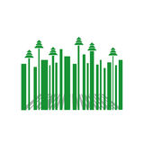 Bar code with Christmas trees Royalty Free Stock Images