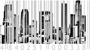 Bar-code City. Vector Illustration Stock Images