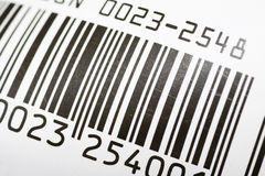 Bar code close up Royalty Free Stock Photos