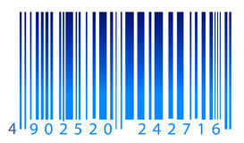Bar code in color lighting Royalty Free Stock Photos