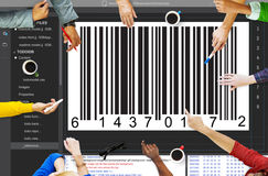 Bar Code Encryption Interface Coding Concept Stock Images