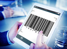 Bar Code Encryption Interface Coding Concept.  Royalty Free Stock Photography