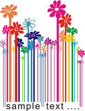 Bar-code floral. Color illustration bar-code changing the flowers Stock Photography