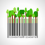 Bar-code with forest plants Royalty Free Stock Photo