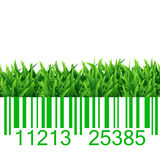 Bar code grass illustration Stock Photos