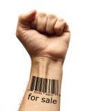 Bar code on hand Royalty Free Stock Image